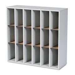 SAF7765GR - Safco® Wood Mail Sorters