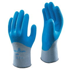 SHA845-305XL-10 - SHOWA305 Latex Coated Gloves, X-Large, Blue/Gray