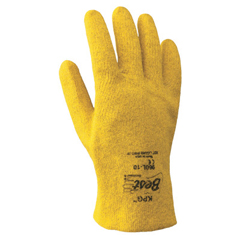 SHA845-960L-10 - SHOWA - KPG PVC Coated Gloves, Large, Yellow