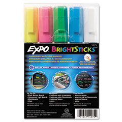SAN14075 - EXPO® Bright Sticks™ Wet-Erase Fluorescent Marker Set