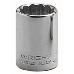 "WRT875-4124 - Wright Tool1/2"" Dr. Standard Sockets"