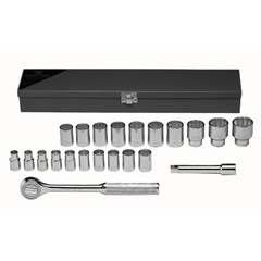 WRT875-472 - Wright Tool - 22 Piece Standard Metric Socket Sets