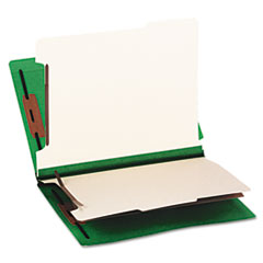 SMD26837 - Smead® Colored End Tab Classification Folders with Dividers