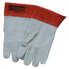 BWL902-10TIG-L - Best WeldsCapeskin TIG Welding Gloves, Large, White/Red