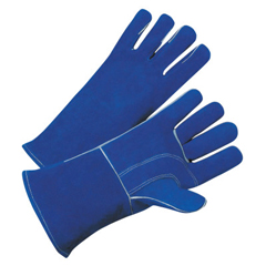 BWL902-3030 - Best Welds7344 Leather Welding Gloves, Leather, Large, Blue