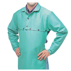 BWL902-CA-650-XL-SNAPS - Best Welds - Cotton Sateen Cape Sleeves, 14 In Long, Snaps Closure, X-Large, Visual Green