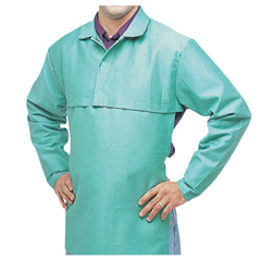 BWL902-CA-650-L - Best Welds - Cotton Sateen Cape Sleeves, 14 In Long, Hook/Loop Closure, Large, Visual Green