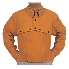 BWL902-Q-2-L - Best WeldsLeather Cape Sleeves, Snaps Closure, Large, Golden Brown