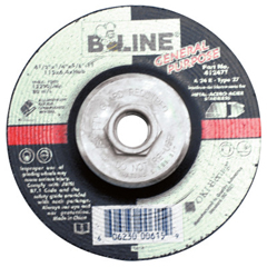 BEE903-41247T - Bee LineDepressed Center Grinding Wheel, 4 1/2 Dia, 1/4 Thick, 5/8-11 Arbor, 24 Grit