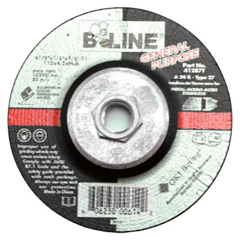 BEE903-41287T - Bee LineDepressed Center Grinding Wheel, 4 1/2 Dia, 1/8 Thick, 5/8-11 Arbor, 24 Grit