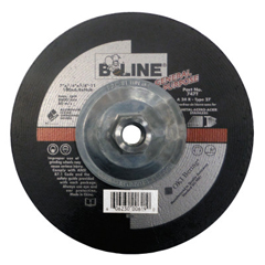 BEE903-787T - Bee LineDepressed Center Grinding Wheel, 7 Dia, 1/8 Thick, 5/8-11 Arbor, 24 Grit