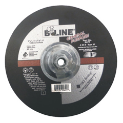 BEE903-947T - Bee LineDepressed Center Grinding Wheel, 9 Dia, 1/4 Thick, 5/8-11 Arbor, 30 Grit