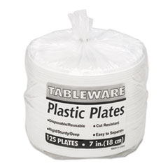 TBL7644WH - Tablemate® Plastic Dinnerware