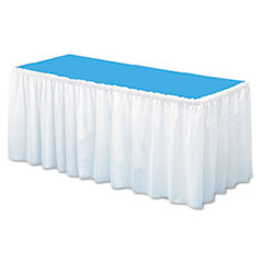 TBLLS2914WH - Tablemate® Table Set® Linen-Like Table Skirting