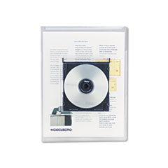 UNV50780 - Universal® Transparent Deluxe Locking Project Files with CD-ROM Holder