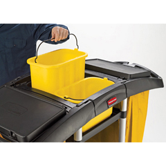 RCP9T79BLA - Bi-Bag Waste-Collection Cleaning Cart