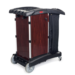 RCP9T94BLA - Deluxe Paneled Compact Housekeeping Cart