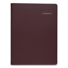 AAG7095050 - Weekly Appointment Book, 10 7/8 x 8 1/4, Winestone, 2020-2021