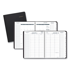 AAG70950V05 - Triple View Weekly/Monthly Appointment Book, 10 7/8 x 8 1/4, Black, 2020