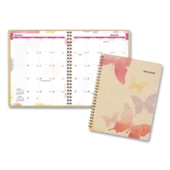 AAG791800G - Watercolors Monthly Planner, 8 3/4 x 6 7/8, Watercolors, 2020-2021