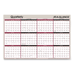 AAGA123 - AT-A-GLANCE® Vertical/Horizontal Erasable Quarterly/Monthly Wall Planner