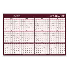 AAGA152 - AT-A-GLANCE® Reversible Horizontal Erasable Wall Planner