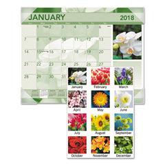 AAGDMD13532 - AT-A-GLANCE® Antique Floral Monthly Desk Pad Calendar