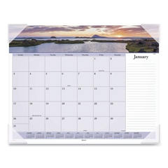 AAGDMD14132 - Images of the Sea Monthly Desk Pad Calendar, 22 x 17, 2020