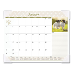 AAGDMD16632 - AT-A-GLANCE® Puppies Monthly Desk Pad Calendar