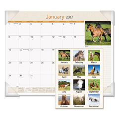 AAGDMD16832 - AT-A-GLANCE® Horses Monthly Desk Pad