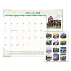 AAGDMD16932 - AT-A-GLANCE® European Destinations Desk Pad Calendar