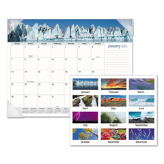 AAGDMD17032 - AT-A-GLANCE® Mother Nature Recycled Monthly Desk Pad