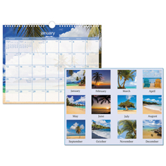AAGDMWTE828 - AT-A-GLANCE® Tropical Escape Wall Calendar