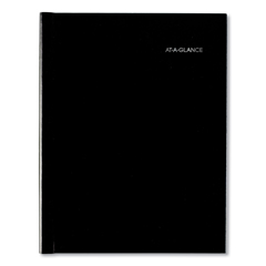 AAGG520H00 - Hardcover Weekly Appointment Book, 11 x 8, Black, 2020
