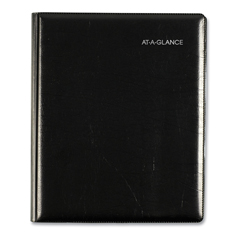 AAGG54500 - Executive Weekly/Monthly Planner, 6 7/8 x 8 3/4, Black, 2019