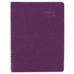 AAGG70159 - DayMinder Floral Planner, 8 1/4 x 10 7/8, Purple, 2019