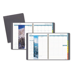 AAGG70230 - DayMinder Scenic Planner, 8 1/4 x 10 7/8, Gray, 2019