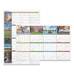 AAGPA133 - Seasons in Bloom Vertical/Horizontal Erasable Wall Planner, 24 x 36, 2021
