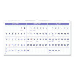AAGPM1428 - AT-A-GLANCE® Deluxe Three-Month Reference Wall Calendar
