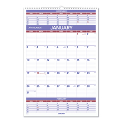 AAGPM628 - AT-A-GLANCE® Three-Month Wall Calendar