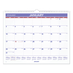 AAGPM828 - AT-A-GLANCE® Monthly Wall Calendar