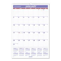 AAGPMLM0328 - Erasable Wall Calendar, 15.5 x 22.75, White, 2021