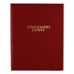 AAGSD37413 - Standard Diary Daily Diary, Recycled, Red, 7 1/2 x 9 7/16, 2019