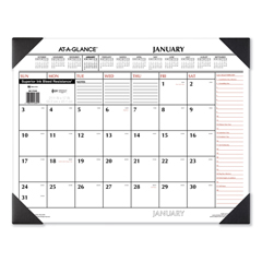 AAGSK117000 - Two-Color Monthly Desk Pad Calendar, 22 x 17, 2020