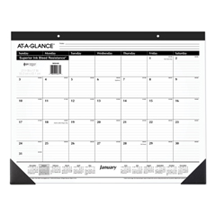 AAGSK2400 - Ruled Desk Pad, 22 x 17, 2019