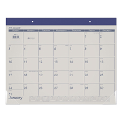 AAGSK2517 - Fashion Color Desk Pad, 22 x 17, Blue, 2021