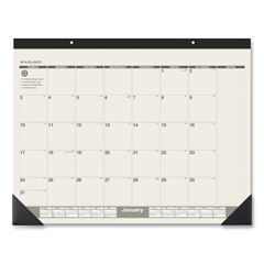 AAGSK32G00 - AT-A-GLANCE® Recycled Monthly Desk Pad