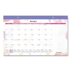 AAGSK91705 - AT-A-GLANCE® Watercolors Recycled Monthly Desk Pad Calendar