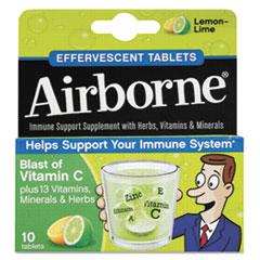 ABN30006 - Airborne® Immune Support Effervescent Tablet, Lemon/Lime, 10/Box