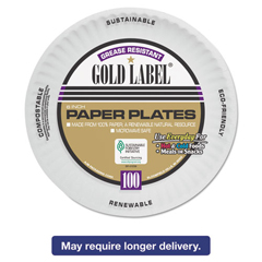 AJMCP6GOAWH - AJM Packaging Corporation Gold Label Coated Paper Plates